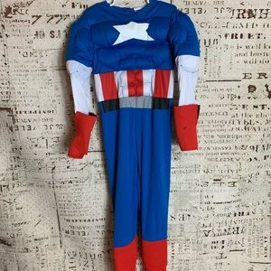 Marvel Captain America muscle Halloween costume M